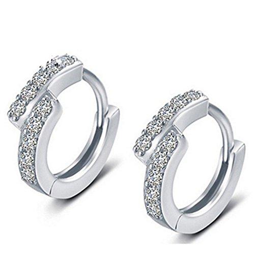 Wiftly Femmes Argent 925 Diamants Boucles d'oreilles Mode Boucles d'oreille Bijoux