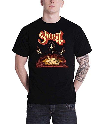 Ghost T Shirt Infestissumam Band Logo Official Mens Black