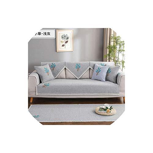 XUELI Funda de sofá de algodón/línea a prueba de suciedad para sofá 2019 nuevas fundas antideslizantes suaves para sala de estar seccional, 6,70120 cm-4-90180 cm