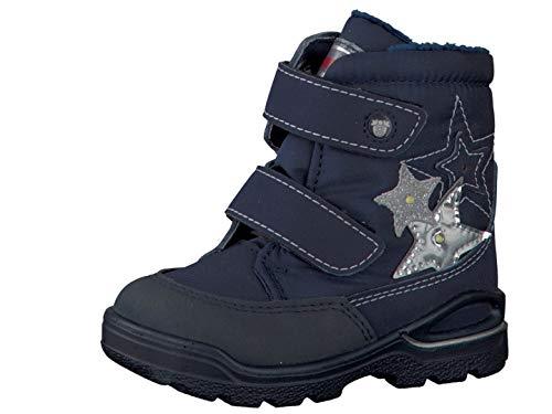 RICOSTA Pepino Mädchen Winterstiefel Maddy, WMS: Mittel, wasserfest, leger Winter-Boots Outdoor-Kinderschuhe warm,Nautic/Marine,23 EU / 6 UK