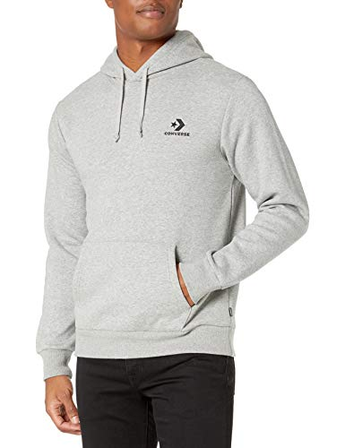 Converse Star Chevron Po Hoodie Herren Sweatshirt, VGH, grau (Vintage Grey Heather)