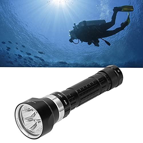Linterna de buceo subacuático, tres modos de luz diferentes Iluminación subacuática profesional con SOS medio-fuerte para exteriores para verano
