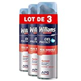 Williams Gel à Raser Peau Sensible, Formule Soin à l'Extrait d'Aloe Vera, Apaisant (Lot de 3x200ml)