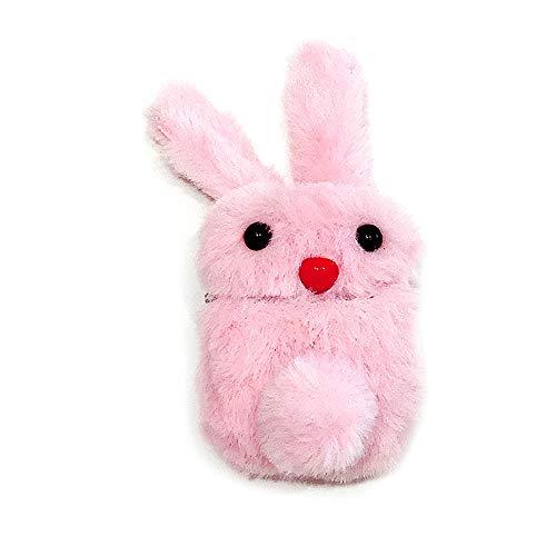 shihao159 koptelefoon draadloze stofdichte winter schattig konijn pluche hoesje cover beschermende huid koptelefoon zak roze