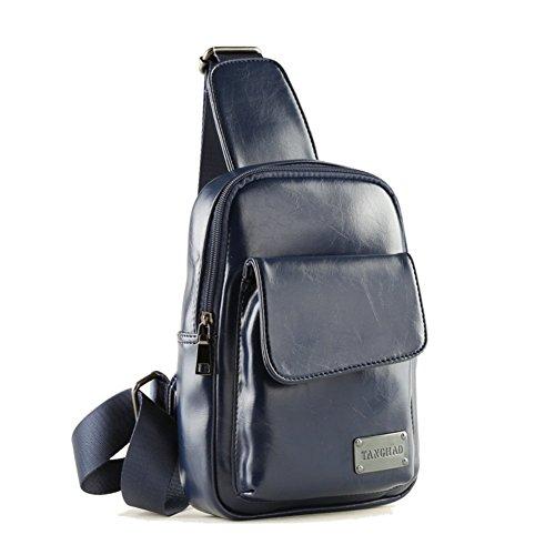 Sincere® Loisirs poitrine Pack / étudiant sac à dos / extérieur messager de sport / messenger bag bleu hommes