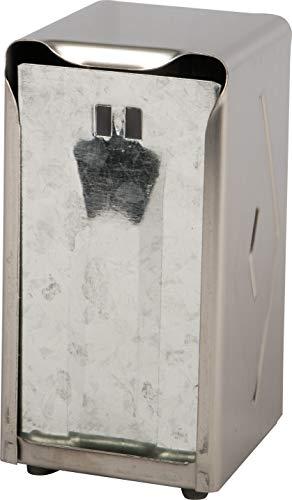 "San Jamar H900X Tall Fold Restaurant Style Napkin Dispenser, 7-1/2"" x 3-3/4"", 150 Capacity, Satin Stainless"