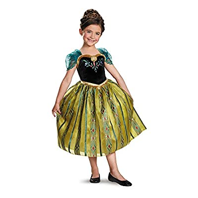 Frozen Disney Deluxe Anna Coronation Gown Child Costume