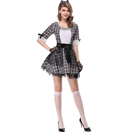 LNC-QQNY Sexy Dessous Zombie Vampir Braut und Magd Kostüm Clown Kostüm (Color : Black, Size : M)