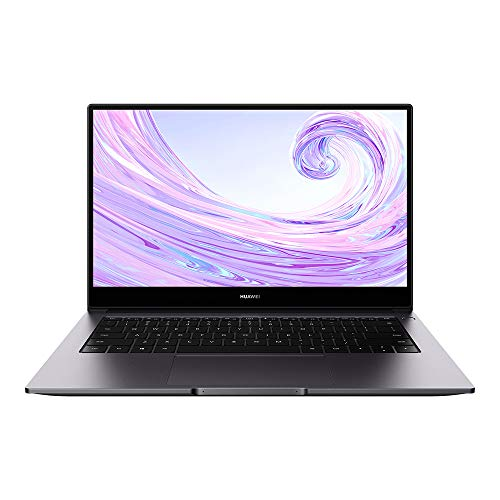 HUAWEI NobelB-WAH9A MateBook D 14, Full View 1080P FHD Ultrabook Laptop, Intel Core i5-10210U, RAM 8GB, SSD da 256GB, Windows 10 Home, Gray