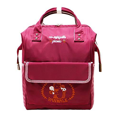 RLANDTO Fashion Casual School Bag, Laptop Daypack Mochila de Viaje Elegante para Mujeres y Hombres, con Abertura Superior de Estilo Doctor Ancho