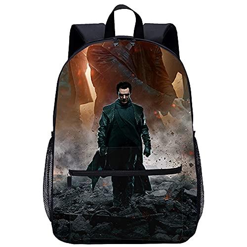 SHENLIJUAN 3D-gedruckte wasserdichte Schultaschen für Jungen Lässige Schulranzen Star Trek Into Darkness geeignet für Jungen, Grund- und Mittelschüler Größe: 45x30x15 cm/17 Zoll Freizeitrucksack