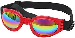 AMAA 犬 メガネ サングラス 犬 メガネ 固定ベルト 紫外線対策 車酔い対策 UVカット