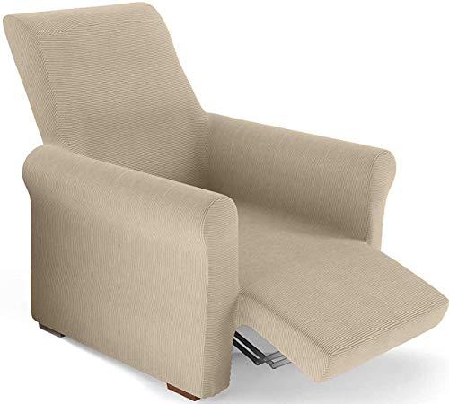 PETTI Artigiani Italiani Sesselüberwurf, Creme, Sessel von 80 bis 100 cm