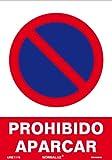 Normaluz RD40040 RD40040-Señal Prohibido Aparcar PVC...