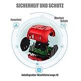 Milool Reiseadapter mit QC3.0 Technologie Weltreiseadapter Typ C+ 2 USB (US/EU/UK/AU) 30W All-In-One Reiseladegerät geeignet für über 150 Länder(Rot) - 4