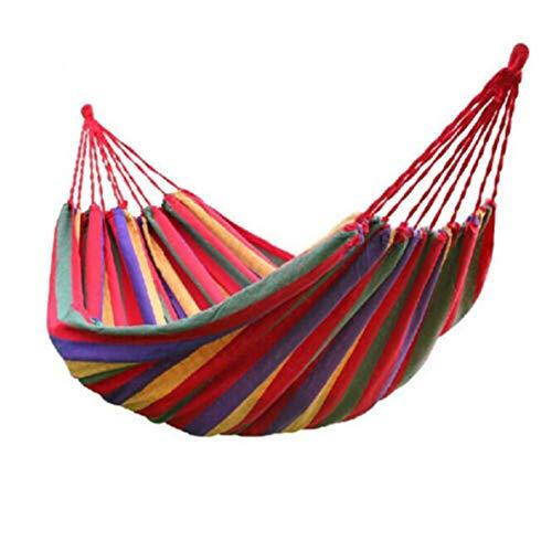 Fancysweety Hamaca al Aire Libre para Acampar en el jardín, Hamaca de Lona, Cama para Dormir, Silla Colgante de jardín portátil, Silla Colgante para Cama, Silla Perezosa
