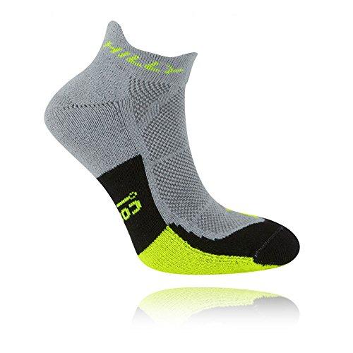 Hilly Men's Cushion Socklet Socks, Grey (Grey/Fluoyellow/Black), Medium (6-8.5 UK) (39.5-42.5 EU))