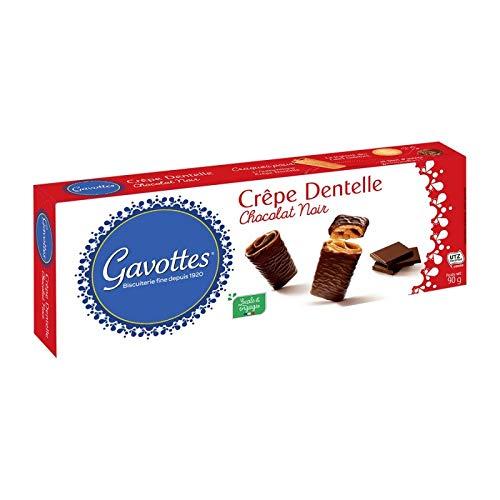 GAVOTTES - Crêpes Dentelles Chocolat Noir 90G - Lot De 4