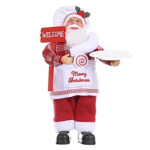 A/A enjoymentlin Novedad Tela Navidad Muñecas Exquisitas de Pie Santa Claus Juguetes Niños Joyful Feastival Regalo de Navidad Hogar Adornos Decorativos Props