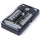 Set Destornillador 28 en 1 Magnético S2 Destornillador bits Kit Hex Socket Nivel Mango Manija Reparación Herramientas Mano