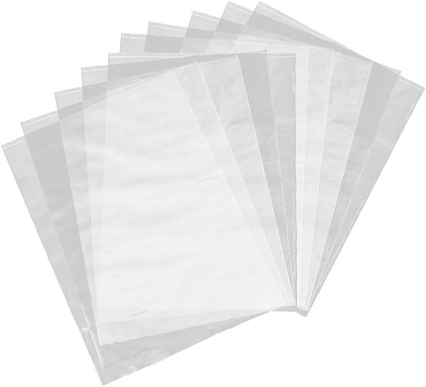 EXCEART Heat Shrink Department unisex store Wrap Lami Bag Transparent 100Pcs