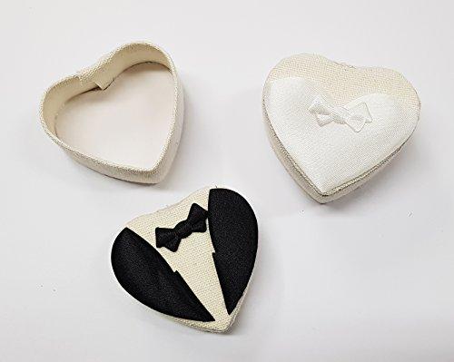 takestop® Set van 12 snoepjes bonnièredozen bruidspaar MISTI confect bruiloft huwelijksgeschenk