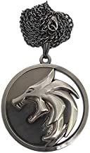 The Witcher Geralt Necklace Cosplay Costume Henry Props Cavill TV Series Metallic