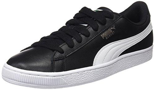 PUMA Basket Classic LFS, Scarpe da Ginnastica Basse Unisex-Adulto, Nero (Black-White), 41 EU