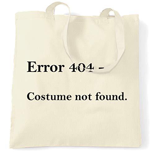 Tim And Ted Nerdy Halloween Tragetasche Fehler 404, Kostüm nicht gefunden Natural One Size