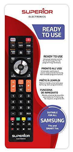 Superior SAMSUNG Replacement - Telecomando di ricambio universale compatibile con tutti i TV e SMART TV di marca SAMSUNG - Pronto all'uso non richiede programmazione