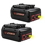 Topbatt 2Pièces 18V 5.0Ah Remplacement pour Batterie BAT609 BAT609G BAT610G BAT618G BAT619 BAT621 BAT620 avec indicateur de charge LED Outils électriques sans fil