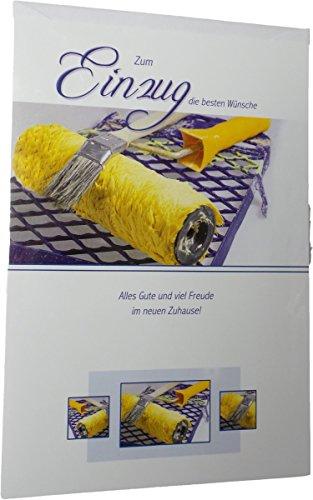 Glückwunschkarte Umzug - Zum Einzug die besten Wünsche - Mehrfarbig - mit Briefumschlag
