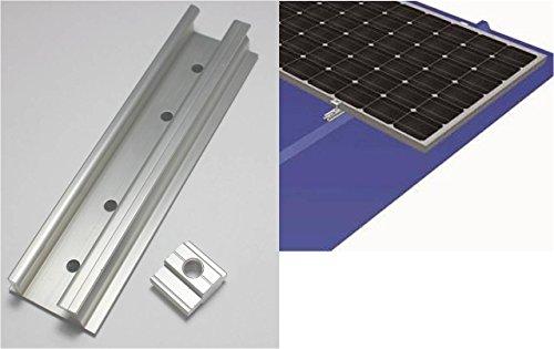 Solarmodul Alu Halter: Minischiene, Nutenstein. Blechdach PV Befestigung Camping