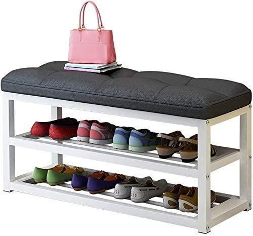 WQFJHKJDS Zapatillas a Prueba de Polvo Zapato de Zapatos Multi-Capa, gabinete de Zapatos de Almacenamiento a Prueba de Polvo Simple, Economía de Hierro Forjado Banco de Zapato ensamblado Moderno