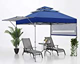 ABCCANOPY Pop Up Canopy Tent 10X17 Outdoor 3-Tier Shade with Adjustable Dual Half Awnings, Navy Blue