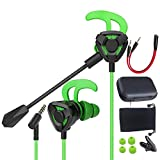 Gaming E-Sports Earphones in-Ear 3.5mm Jack Headphone with Detachable Mic Volume Control Earphone Gamer Wired Earbuds...