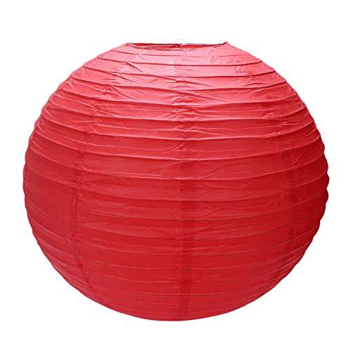 NEYOANN 1 pantalla de lámpara de papel japonés chino para fiestas, bodas, 50 cm, color rojo