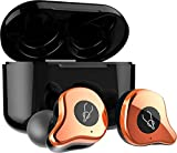 Sabbat E12 3D Clear Sound True Wireless Earphone Sport HiFi Stereo Earbuds Blutooth 5.0 TWS Stereo Earphones A week's Endurance with Built-in Mic and Charging Case (Gilt Copper)