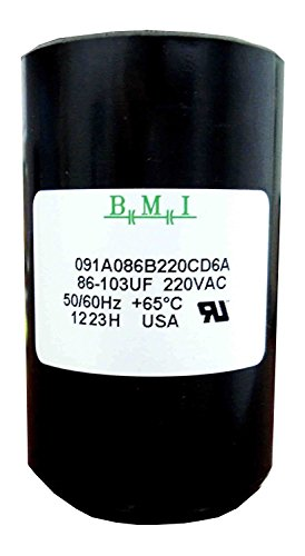 86-103 MFD (uF) 3/4 and 1 HP Well Pump Control Box Motor Start Capacitor for Franklin 275464118, 2801074915, CRC 2824085015 and Tuhorse TCB15M230. Made in The USA by BMI