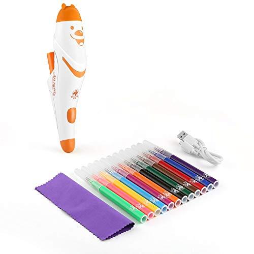 Tellaboull Elektrische Spray Art Pen Airbrush Marker Set Aquarell Stift Magic Pen farbige Marker Kinder Kinder Spielzeug Geschenk