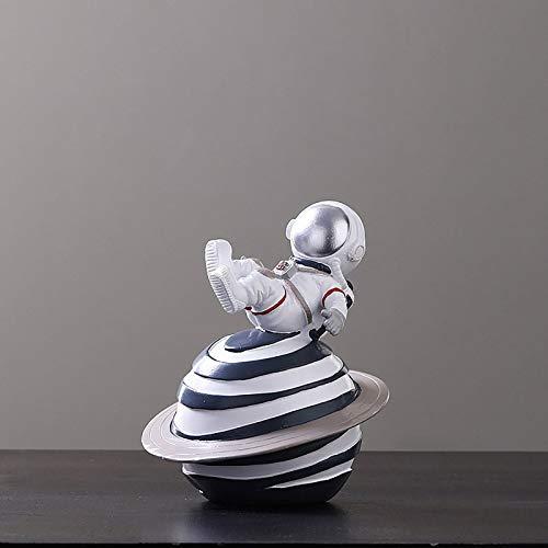 NBXLHAO Estatuas De Astronauta, Blanco, Regalo, Material De Resina, Adornos Creativos De Modelo De Astronauta, Adecuado para Escaparates De Escritorio,I