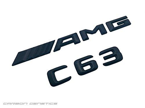 Carbon-Genetics Noir mat nouveau 3D C63 AMG Tronc Boot Badge Emblème Stick sur pour C63 AMG