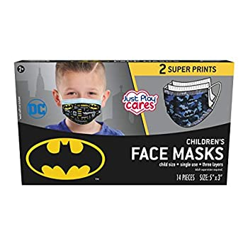 Just Play Children's Single Use Face Mask Batman 14 Count Small Ages 2 - 7