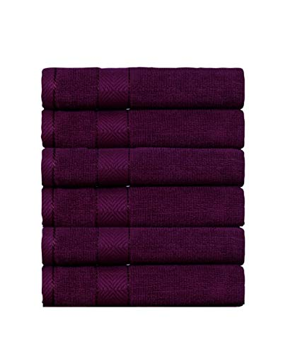 Divine Elysian - Premium - 100% Natural Ring-Spun Double ply Cotton Yarn, Soft, Extra Absorbent & Durable, Quick-Dry, 6 Piece Hand Towel Set - Cheer Wine