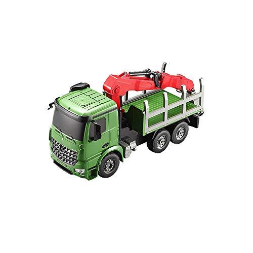 PPITVEQ 1:20 Transporte De Elevación De Control Remoto Camión De Transporte Para Camiones Construcción, Transporte Grande Transporte Madera, Grúa De Juguete Para Niños, Grúa Eléctrica Coche De Juguete