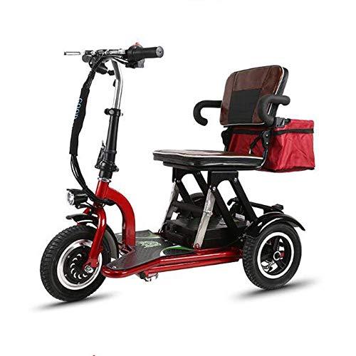 Y-L gehandicapte ouderen lichte mobiele elektrische rolstoel benen en voeten gehandicapte gebruik elektrische driewieler 48V12Ah lithium batterij veiligheidsscooter (rood)