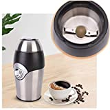 Mukhivala Electric Coffee Grinder   Automatic Smart Easy Quick Simple One-Touch Coffee Maker with Sturdy Stainless Steel Blade Portable Coffee Machine Whole Bean Grind