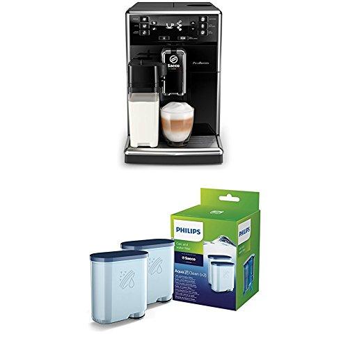 Saeco PicoBaristo SM5460/10 Kaffeevollautomat (integriertes Milchsystem) schwarz + Philips CA6903/22 AquaClean Wasserfilter, Vorteilspack