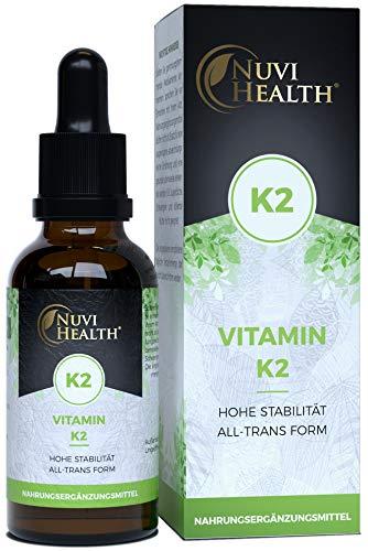 Vitamin K2 MK7-200 µg - 1700 Tropfen = 50 ML - 99,7+% All-Trans (K2VITAL® von Kappa) - Hohe Bioverfügbarkeit - Laborgeprüfte Qualität - Vegan - Hochdosiert