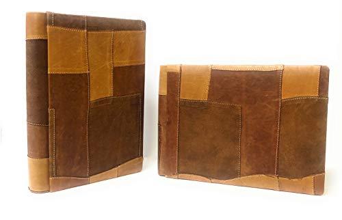 TriVin Art, Álbum artesanal de piel fabricado en Italia, hojas rígidas encuadernadas en libro 24 x 34 (Beige) Bautizo, Comunión, Boda, Fotoricordo. (Vertical 24 x 34)